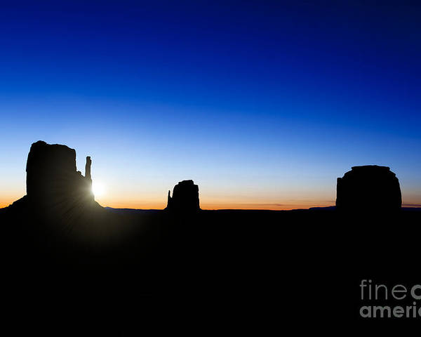 America Poster featuring the photograph Monument Valley Sunrise by Jane Rix