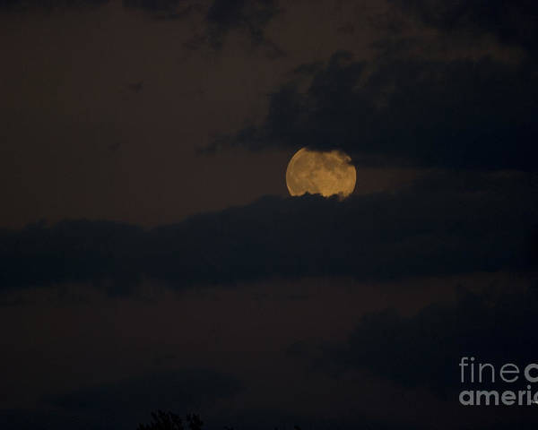 Full Moon Poster featuring the photograph Moon Rising 04 by Thomas Woolworth
