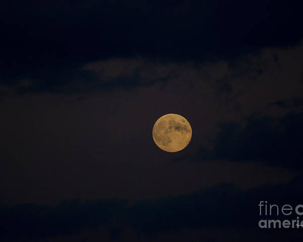 Full Moon Poster featuring the photograph Moon Rising 05 by Thomas Woolworth