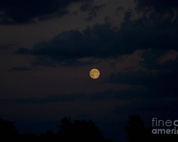 Full Moon Poster featuring the photograph Moon Rising 06 by Thomas Woolworth