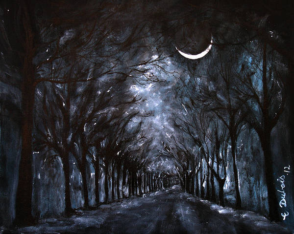Night Poster featuring the painting Morning Glow by Elisabeth Dubois