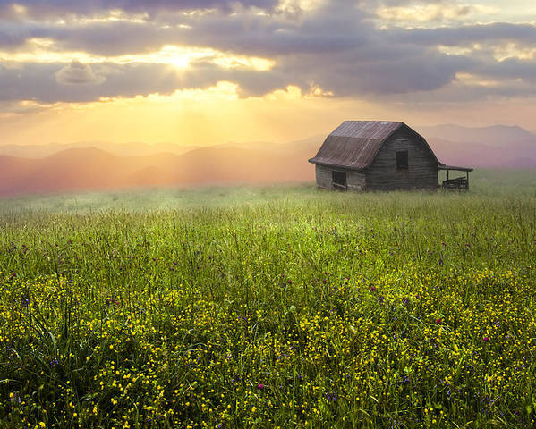 Appalachia Poster featuring the photograph Morning Has Broken by Debra and Dave Vanderlaan
