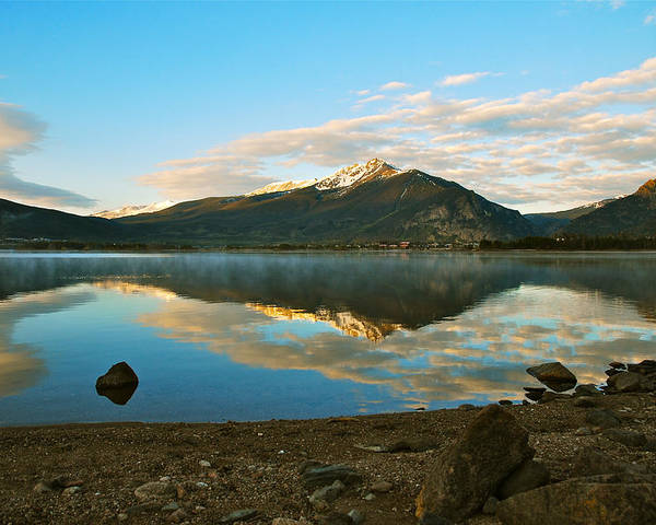 Summit County Colorado Poster featuring the photograph Morning Reflections by Bob Berwyn
