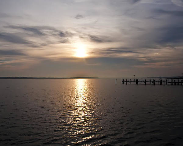 Morning Skies On The Chesapeake Poster featuring the photograph Morning Skies On The Chesapeake by Bill Cannon