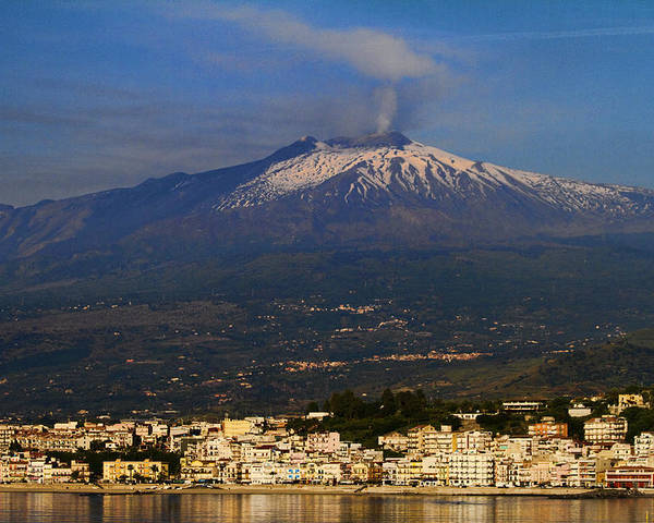 Mount Etna Poster featuring the photograph Mount Etna by David Smith