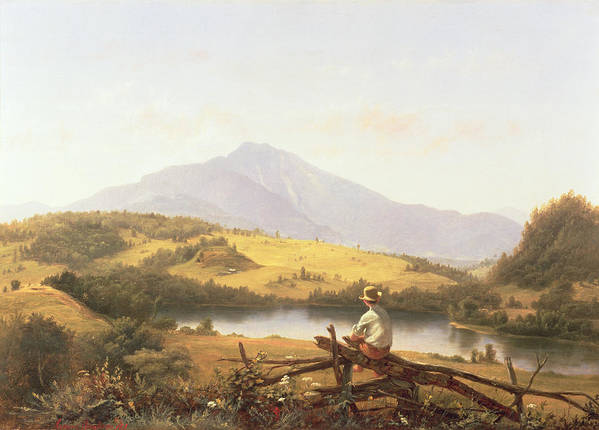 Mount Mansfield Poster featuring the painting Mount Mansfield by Jerome Thompson