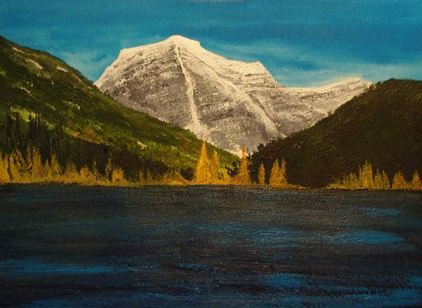 Landsacpe Poster featuring the painting Mount Robson Alberta by Desmond Raymond
