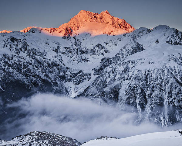 00439735 Poster featuring the photograph Mount Rolleston In The Dawn Light by Colin Monteath