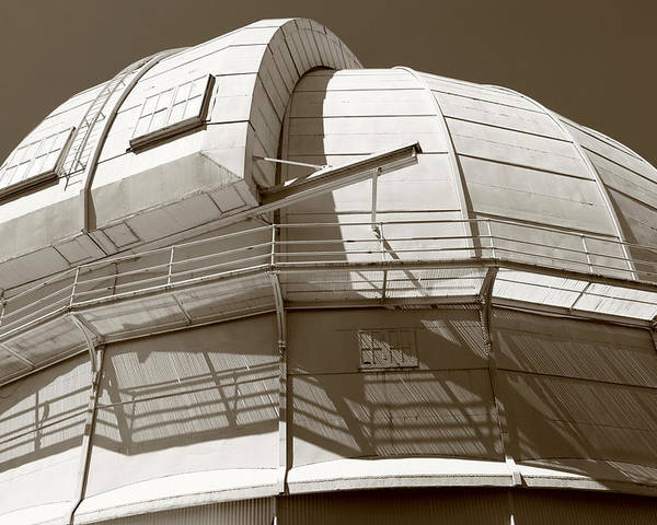 Observatory Poster featuring the photograph Mount Wilson Observatory by Lorraine Devon Wilke