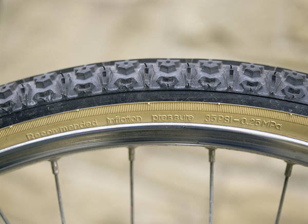 Equipment Poster featuring the photograph Mountain Bike Tyre by Andrew Lambert Photography
