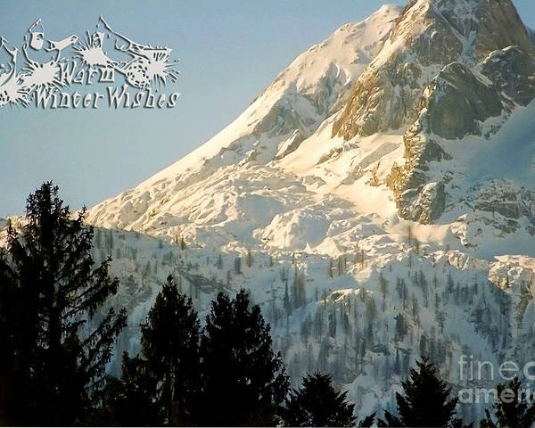 Winter Poster featuring the photograph Mountain Christmas 2 Austria Europe by Sabine Jacobs