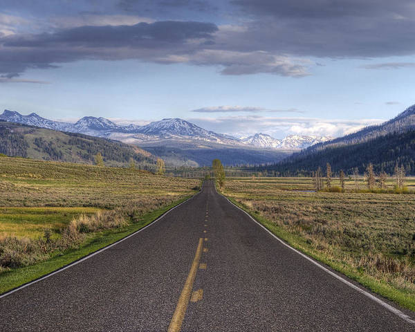 Horizontal Poster featuring the photograph Mountain Road by DBushue Photography