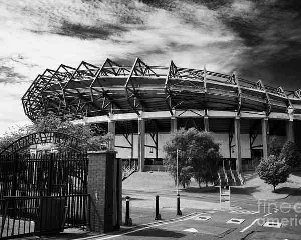 Murrayfield Poster featuring the photograph Murrayfield Stadium Edinburgh Rugby Scotland by Joe Fox
