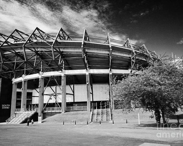 Murrayfield Poster featuring the photograph Murrayfield Stadium Edinburgh Scotland Rugby by Joe Fox