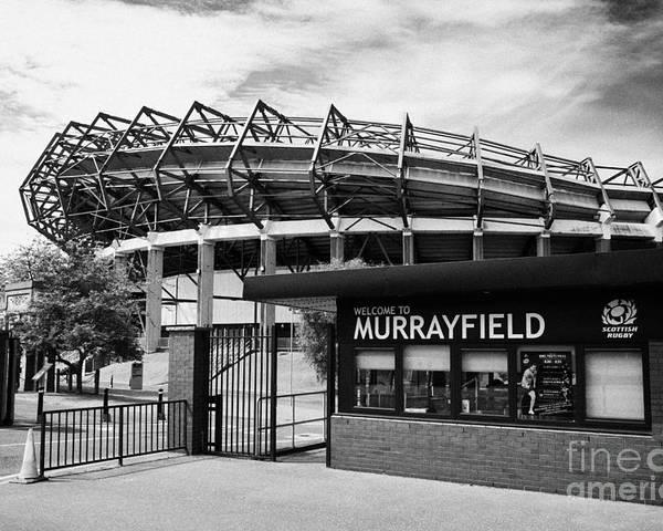 Murrayfield Poster featuring the photograph Murrayfield Stadium Edinburgh Scotland Uk United Kingdom by Joe Fox