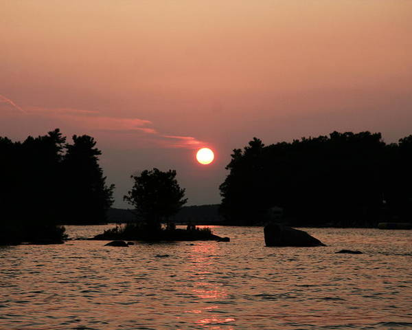 Water Poster featuring the photograph Muskoka Sunset by Dr Carolyn Reinhart