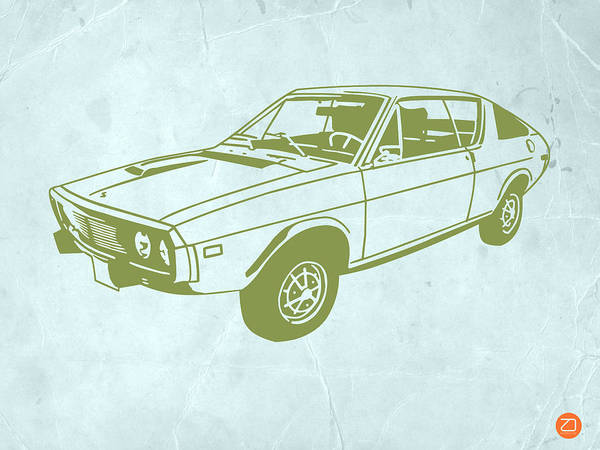 Auto Poster featuring the drawing My Favorite Car 2 by Naxart Studio