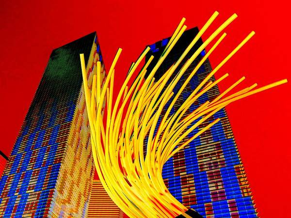 Las Vegas Poster featuring the digital art My Vegas City Center 28 by Randall Weidner