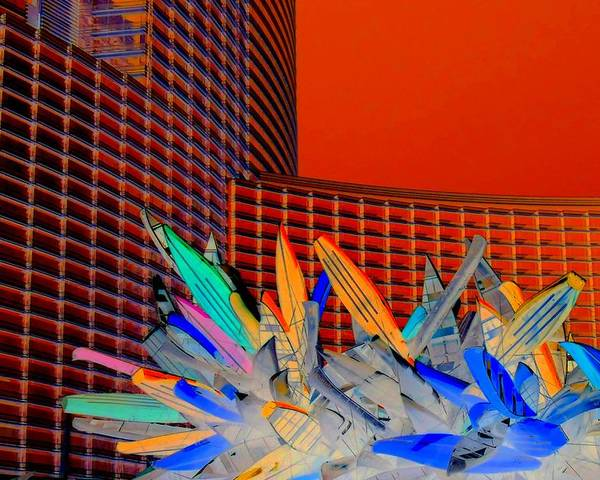 Las Vegas Poster featuring the digital art My Vegas City Center 59 by Randall Weidner
