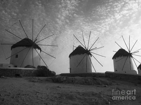 Mykonos Poster featuring the photograph Mykonos Windmills by Leslie Leda