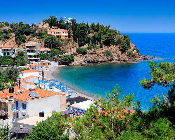 Agios Isidoros Poster featuring the photograph Nagos Beach by Emmanuel Panagiotakis