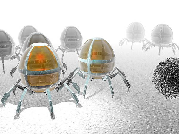 Particle Poster featuring the photograph Nanorobots by Christian Darkin