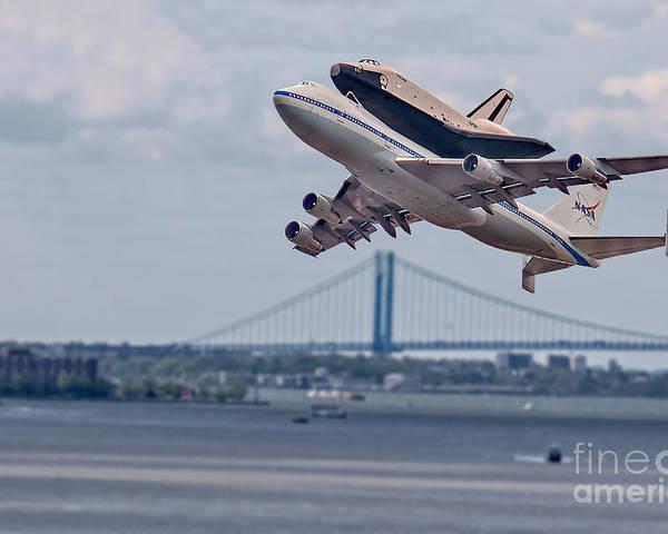 Space Shutle Enterprise Poster featuring the photograph Nasa Enterprise Space Shuttle by Susan Candelario