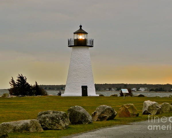 Lighthouse Poster featuring the photograph Ned's Point Lighthouse by Nick Korstad