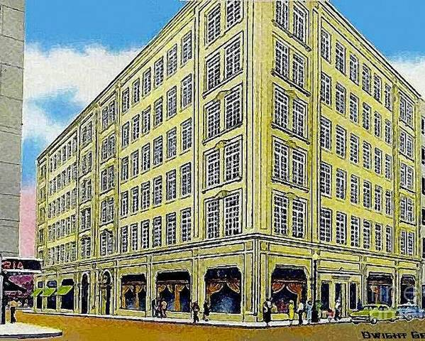 Department Stores Poster featuring the painting Neiman Marcus Department Store In Dallas Tx In The 1950's by Dwight Goss