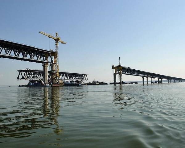 New Ulyanovsk Bridge Poster featuring the photograph New Ulyanovsk Bridge, Russia by Ria Novosti