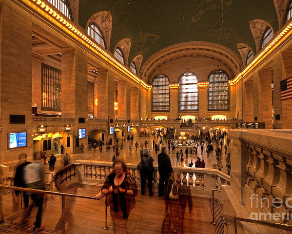 Grand Poster featuring the photograph New York Grand Central by Rob Hawkins