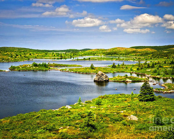 Lakeshore Poster featuring the photograph Newfoundland Landscape by Elena Elisseeva