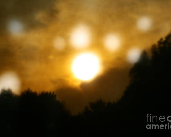 Surreal Poster featuring the photograph Night Sun by Rachel Nelson