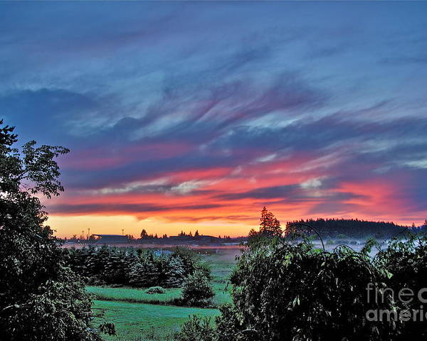 Photography Poster featuring the photograph Nisqually Valley Sunrise by Sean Griffin