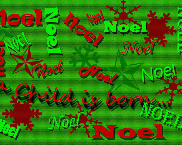 Christmas Poster featuring the photograph Noel by Larry Bishop