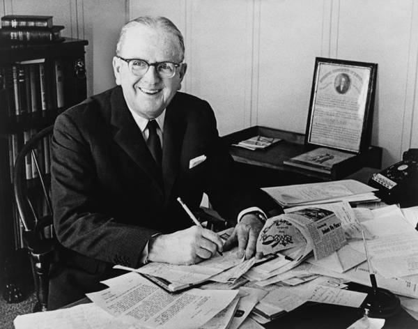 History Poster featuring the photograph Norman Vincent Peale Was An American by Everett