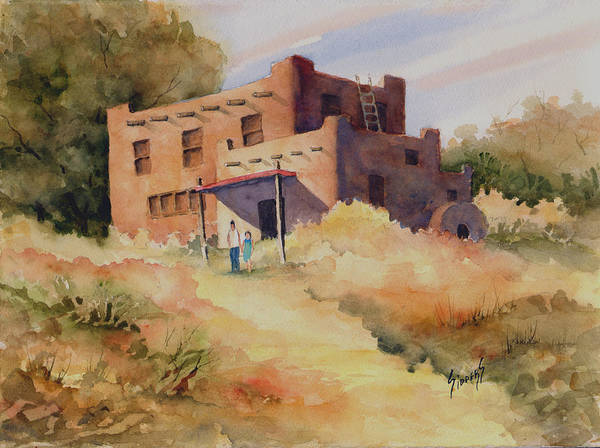 New Mexico Poster featuring the painting Not Far From Espanola by Sam Sidders