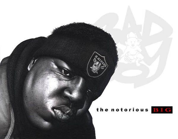 Bigge Sketch Poster featuring the drawing Notorious B.i.g by Lee Appleby