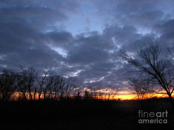 Landscape Poster featuring the photograph November Sunrise by Cedric Hampton