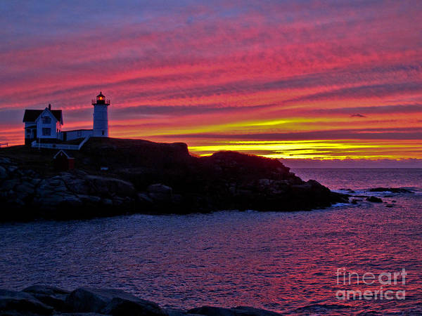 Nubble Lighthouse Poster featuring the photograph Nubble Lighthouse by Scott Moore