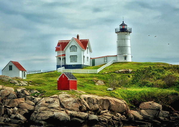 Nubble Poster featuring the photograph Nubble Lighthouse by Tricia Marchlik