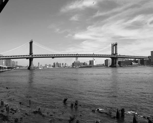Bridge Poster featuring the photograph Nyc Manhattan Bridge by Mike McGlothlen