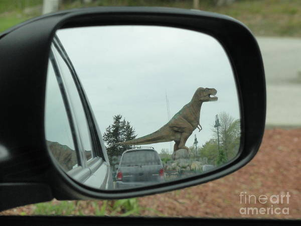 Objects In Mirror May Be Closer Than >> Objects In Mirror May Be Closer Than They Appear Poster By