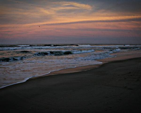 Obx Poster featuring the photograph Obx Sunrise by Andrea Stuart-Bishop