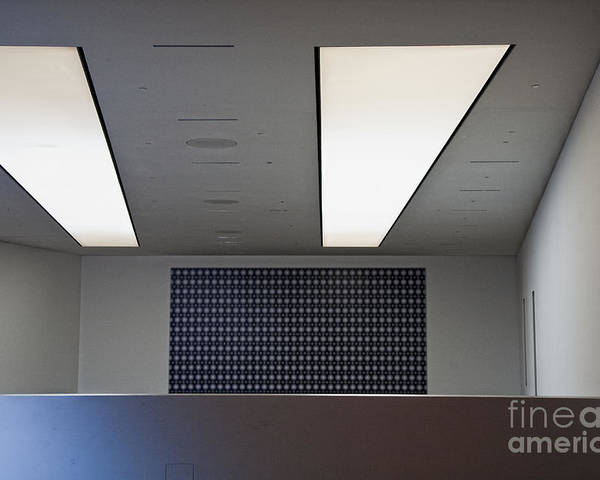 Bleak Poster featuring the photograph Office Ceiling by David Buffington