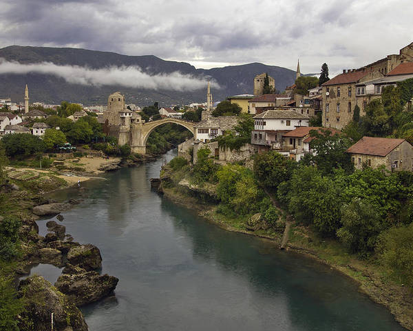 Mostar Poster featuring the photograph Old Bridge Of Mostar by Ayhan Altun