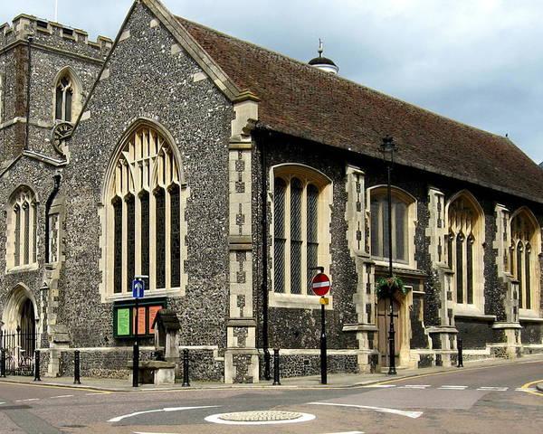 Church Poster featuring the photograph Old English Church Uxbridge Uk by Lynne Dymond