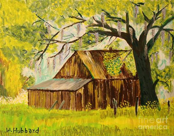 Old Florida Farm Shed Poster featuring the painting Old Florida Farm Shed by Bill Hubbard