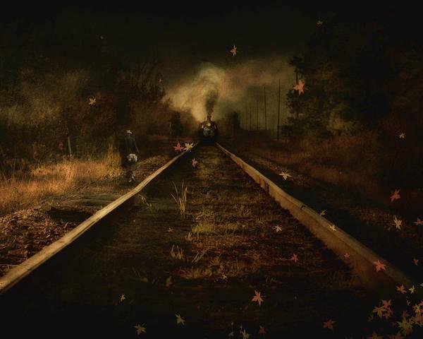 Train Poster featuring the digital art Old Ghosts by Hazel Billingsley