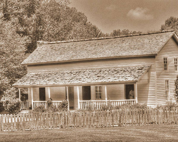 Old Homestead Poster featuring the photograph Old House In The Cove by Barry Jones
